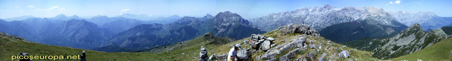 Panorámica desde la cumbre del Jario, Sajambre, Picos de Europa, León