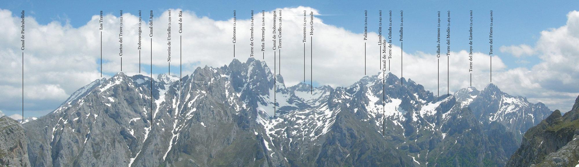 Panoru00e1mica de los Urrieles (Macizo Central de Picos de Europa) desde ...