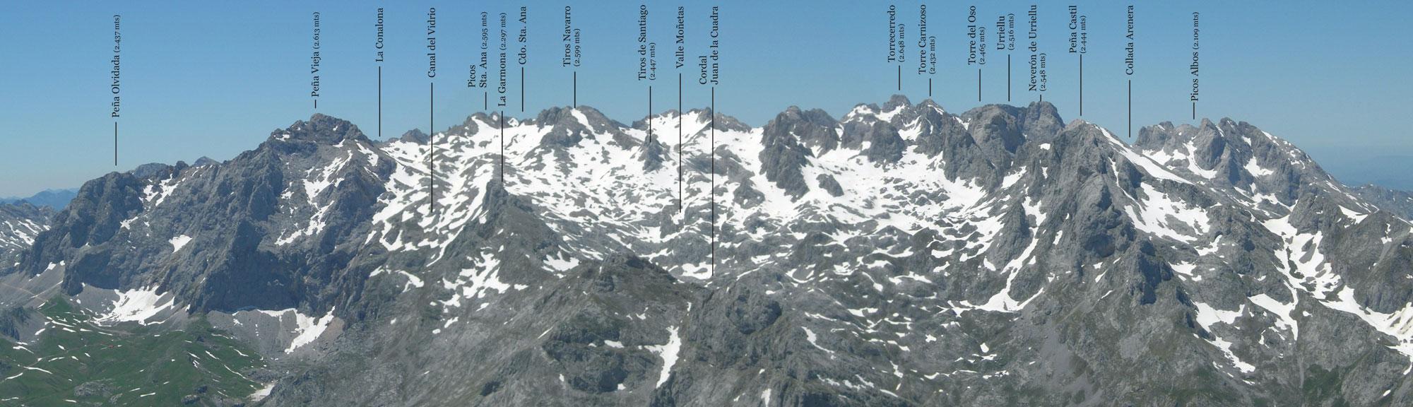 ... Central de Picos de Europa) desde el Pico Jierru en el Macizo Oriental