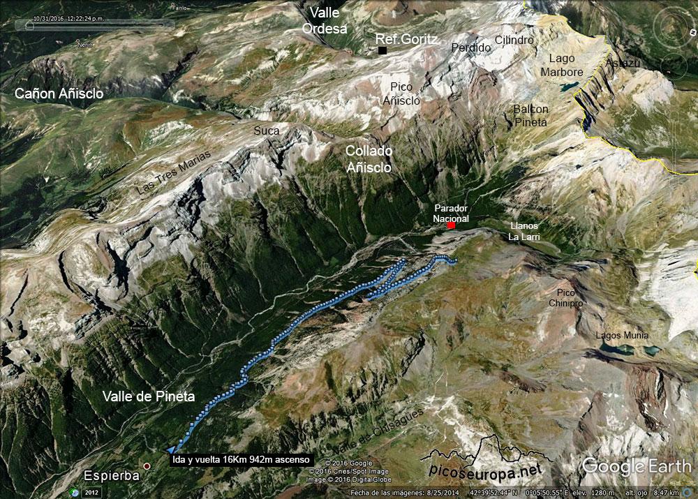 Valle De Pineta Mapa.Del Pueblo De Espierba A La Estiva Valle De Pineta Parque