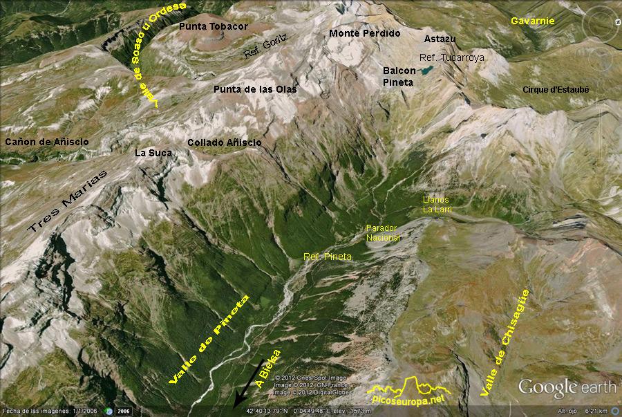 Valle De Pineta Mapa.Valle De Pineta Parque Nacional De Ordesa Pirineos De Huesca